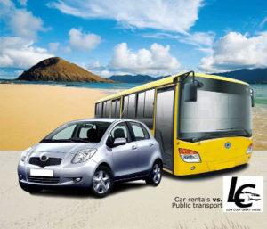 Rent a car vs Public Transport