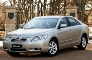 Toyota Camry - medium size car on rent
