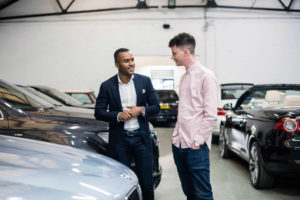 Inspecting rental car